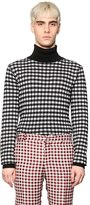 Au Jour Le Jour Gingham Wool Turtleneck Sweater