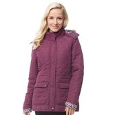 Trespass Womens Jenna Quilted Hooded Jacket Blackberry