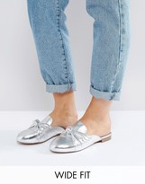 Asos MARIE Wide Fit Bow Flat Mules