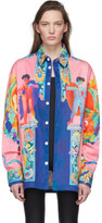 Versace Multicolor Denim Oversized Jacket