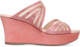 Rene Caovilla Swarovski-embellished suede wedge sandals