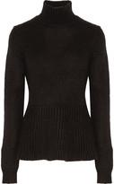 Derek Lam Knitted turtleneck peplum sweater