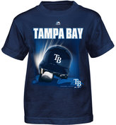 Majestic Toddlers' Tampa Bay Rays Kinetic Helmet T-Shirt
