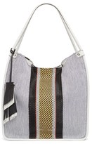 Proenza Schouler Medium Woven Stripe Tote - White