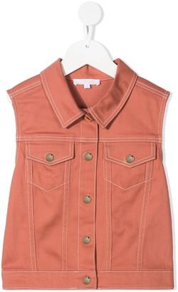 Chloé Kids Sleeveless Denim Jacket