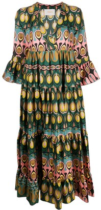 La DoubleJ Abstract Print Flared Dress