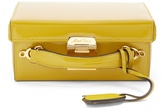 Mark Cross Grace small patent-leather box bag