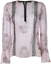Giambattista Valli floral print semi-sheer blouse - women - Silk/Polyamide/Viscose - 44