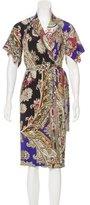 Just Cavalli Midi Wrap Dress