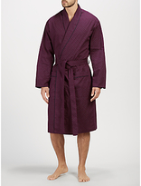 John Lewis Paisley Dot Cotton Robe, Burgundy