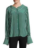 Robert Rodriguez Striped Silk Shirt
