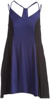 Mimichica Navy & Black Racerback Trapeze Dress