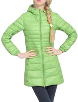 KUFV Womens Winter Hooded Zipper Ultra Light Weight Down Jackets Parka Coats
