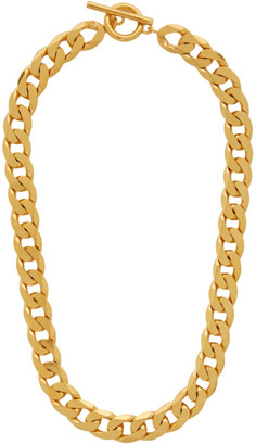 All Blues Gold Polished Moto Necklace
