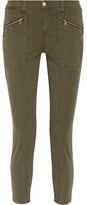 J Brand Genesis Stretch-cotton Twill Skinny Pants - Army green