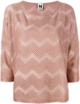 M Missoni jersey T-shirt - women - Cotton/Viscose/Metallic Fibre - M