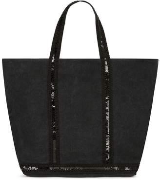 Vanessa Bruno Emma Medium + Linen And Sequins Cabas Tote Bag