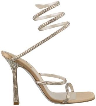 Rene Caovilla Crystal Strap Sandals
