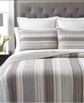 Martha Stewart Collection Collection Cotton Garrison Stripe Neutral Queen Quilt