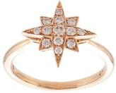 Marchesa 18kt rose gold star diamond ring