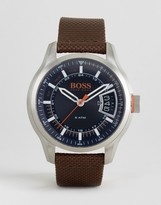 BOSS ORANGE By Hugo Boss Hong Kong Sport Watch In Brown 1550002