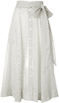 Lisa Marie Fernandez polka dot beach skirt - women - Cotton - 2