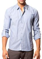 191 Unlimited Men's Slim Fit Blue Woven Shirt