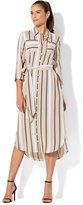 New York & Co. 7th Avenue - Midi Shirtdress - Tan