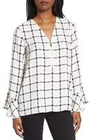 Chaus Women's Terrace Plaid Zip Front Blouse