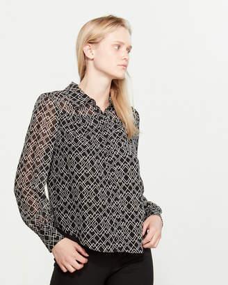 Joie Bimala Long Sleeve Silk Blouse