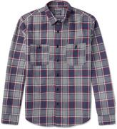 J.Crew Slim-Fit Checked Cotton-Flannel Shirt