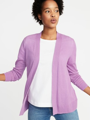 Old Navy Short Open-Front Textured Sweater for Women