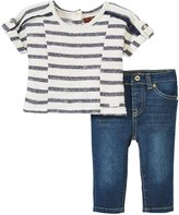 7 For All Mankind Boxy Top Set (Baby) - Crown Blue-3-6 Months