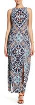 London Times Print Jersey Maxi Dress (Petite)
