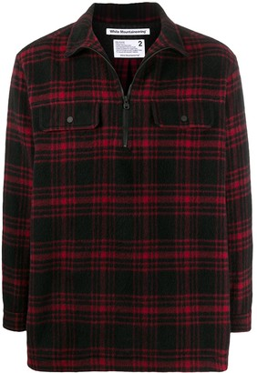 White Mountaineering Half-Zip Checked Pullover