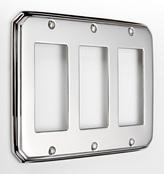Rejuvenation Deco Triple GFCI Coverplate