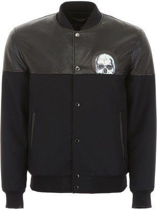 Alexander McQueen Bomber Jacket With Leather Details