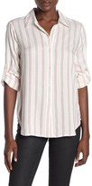 Max Studio Plaid Button Up Shirt