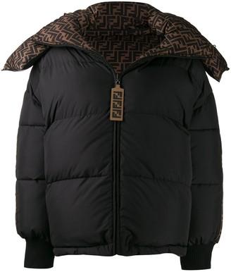 Fendi FF motif reversible padded jacket