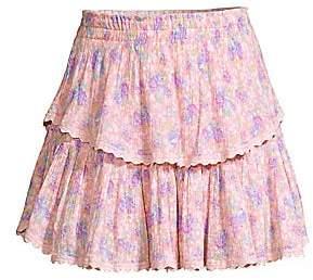 LoveShackFancy Women's Tiered Ruffle Mini Skirt