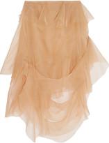Marques Almeida Marques' Almeida Ruffled silk-organza skirt