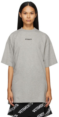 Vetements Grey Logo Patch T-Shirt