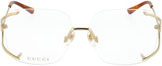 Gucci Rimless Square Glasses