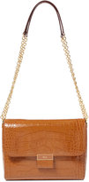 Lauren Ralph Lauren Jude Croco-Embossed Shoulder Bag