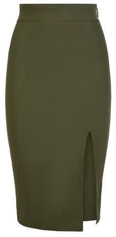 Dorothy Perkins Womens Vesper Green Bodycon Midi Skirt, Green