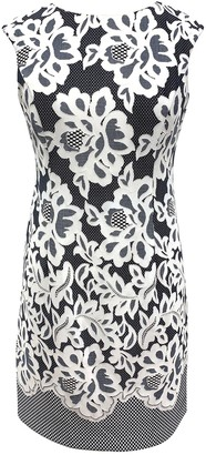 Sandra Darren Floral Cap Sleeve Sheath Dress (Plus Size)