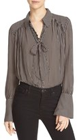 Free People Women's 'Modern Muse' Tie Neck Long Sleeve Blouse