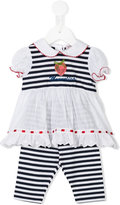 MonnaLisa embroidered strawberry dress set - kids - Cotton/Spandex/Elastane - 6 mth