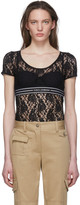Dolce & Gabbana Black Lace Band T-Shirt