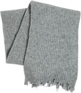 MSGM Distressed Wool Blend Knit Scarf